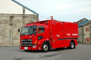 海水利用型消防水利システム(ホース延長車)