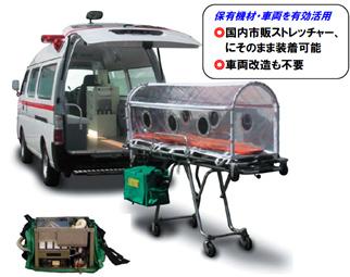 患者隔離装置(病院前除染対策)