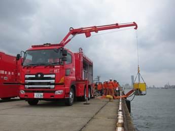 海水利用型消防水利システム(送水車)