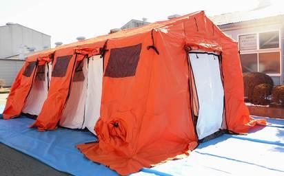 フレーム式救護所用テント BASE-X・BASE-Xpress